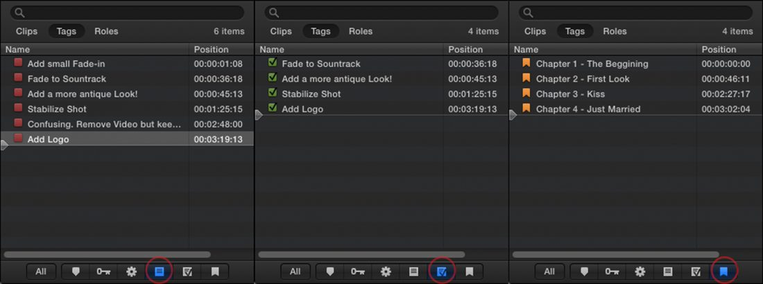 Markers in FCPX (wedding videography example)