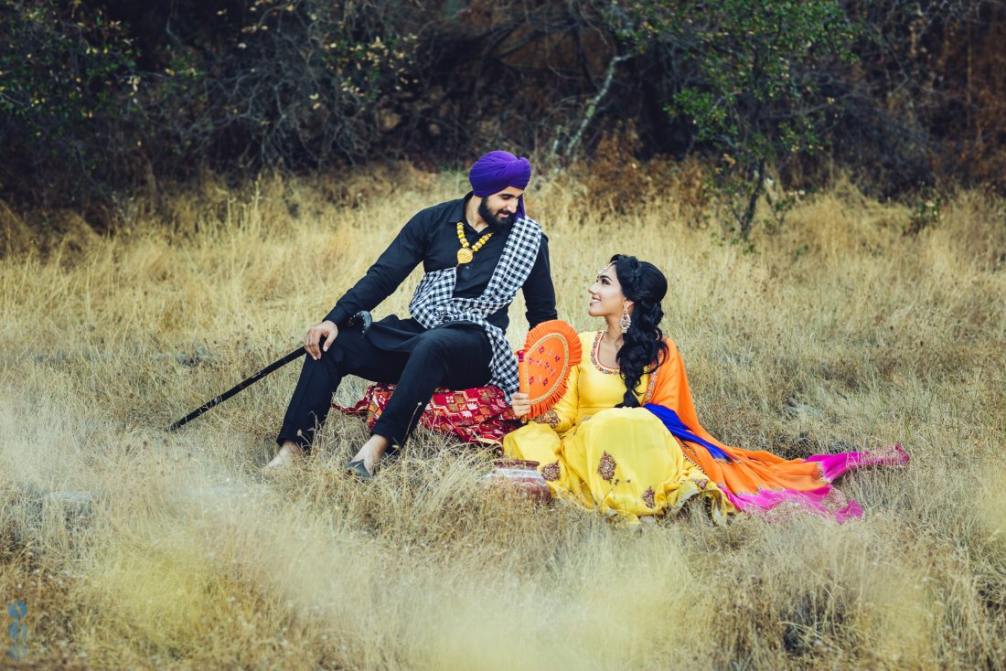 San Francisco Classic Indian Engagement Photography of Pardeep & Lovepreet by Aperina Studios.