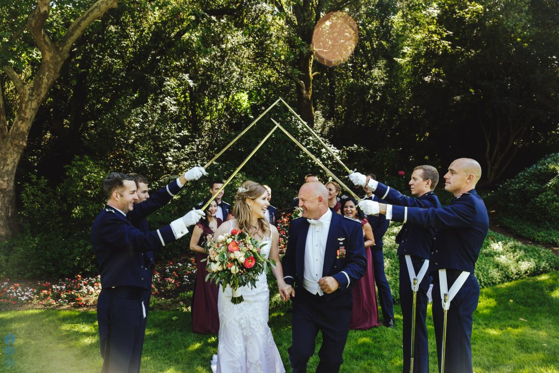 Wedding Party photos after the ceremony at Madrona Manor. Destination Wedding in Napa Valley.
