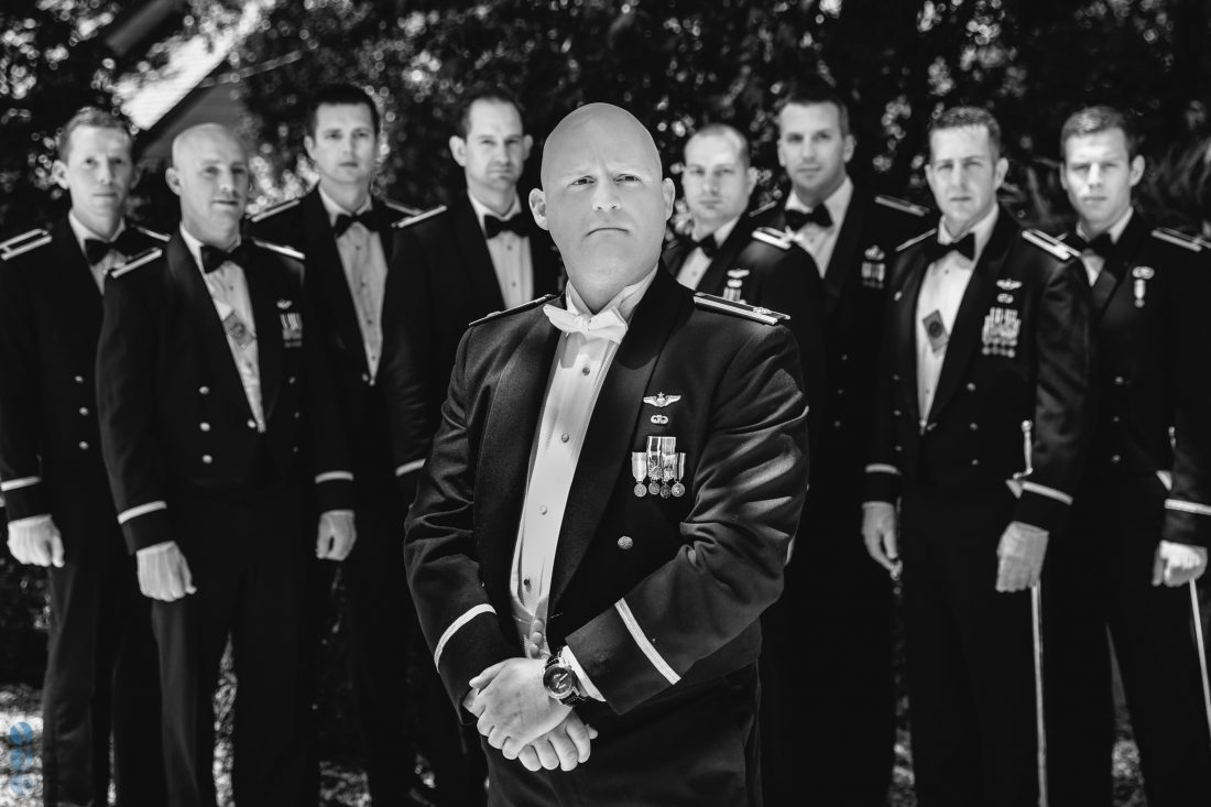 Air force pilot groom with his groomsmen - Napa Valley Wedding Photography