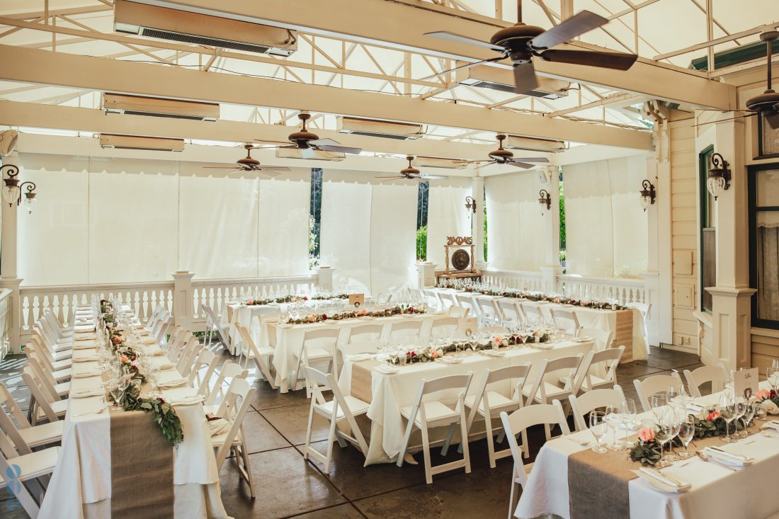Wedding reception Decoration at Modrona Manor - Napa Valley Wedding Photography