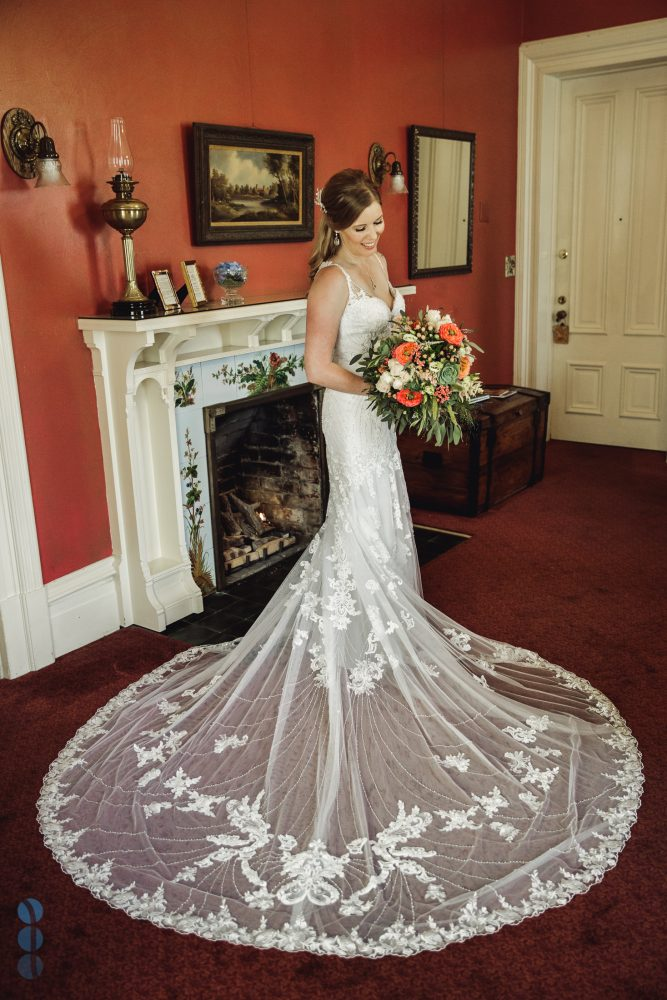 Bride's portraits inside the Madrona Manor Historic Mansion by the Napa Valley Wedding Photographer, Paul Lyubezhanin.