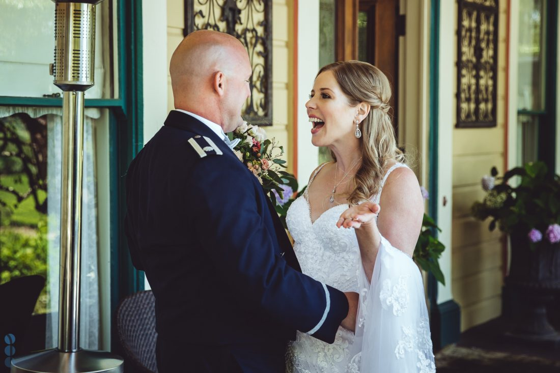 The Bride and Groom - First Look of Chris and Anna at the Madrona Manor in the heart of Napa Valley