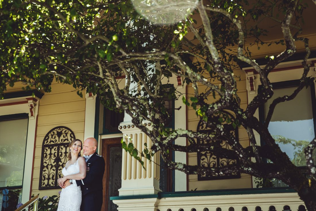 The Bride and Groom - formal portrait of Chris and Anna at the Madrona Manor in the heart of Napa Valley