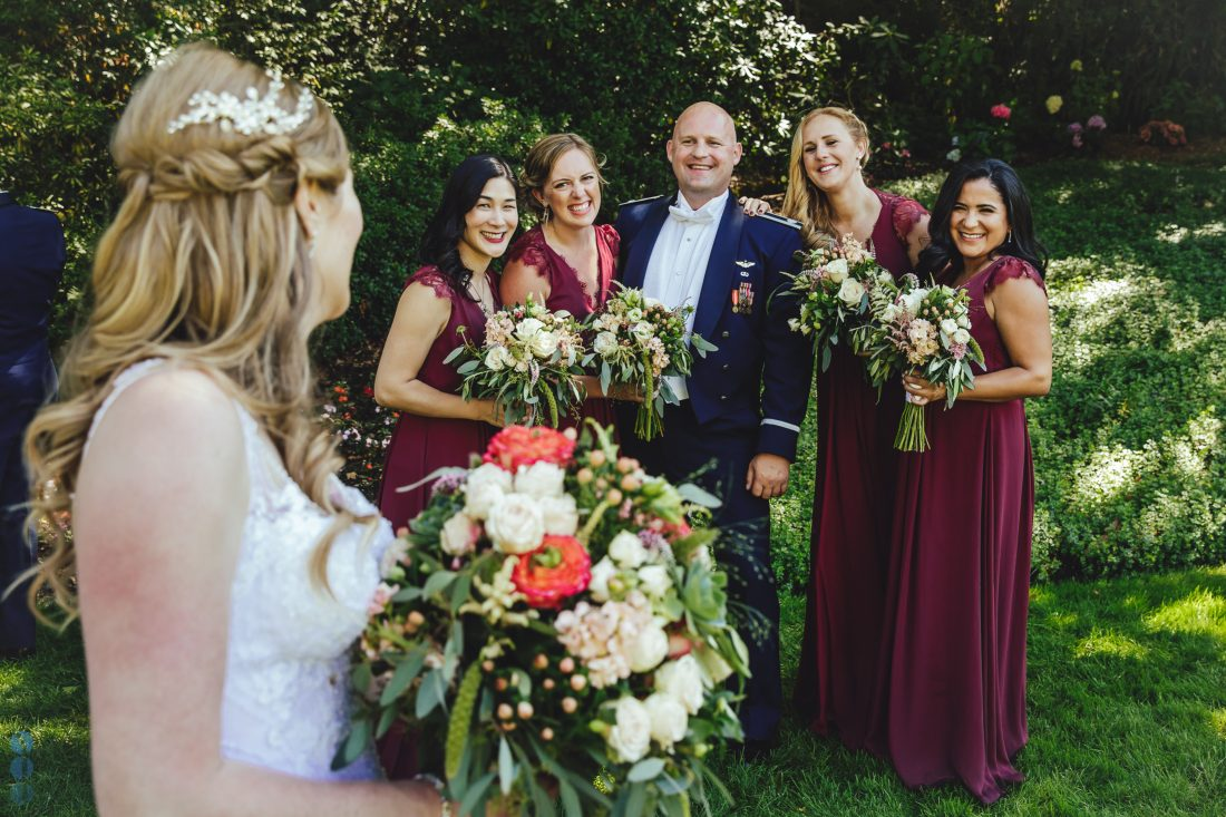 Wedding Party photos after the ceremony at Madrona Manor