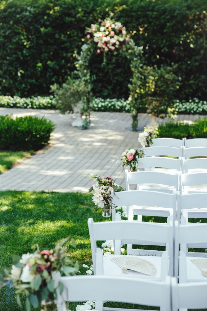 Wedding Ceremony Decoration and Inspiration at Madrona Manor in Healdsburg, California