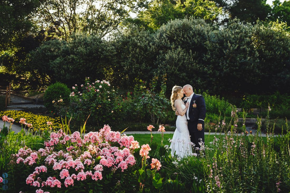 Destination wedding in Napa Valley. Wedding Photography at Madrona Manor of Chris & Anna during the sunset