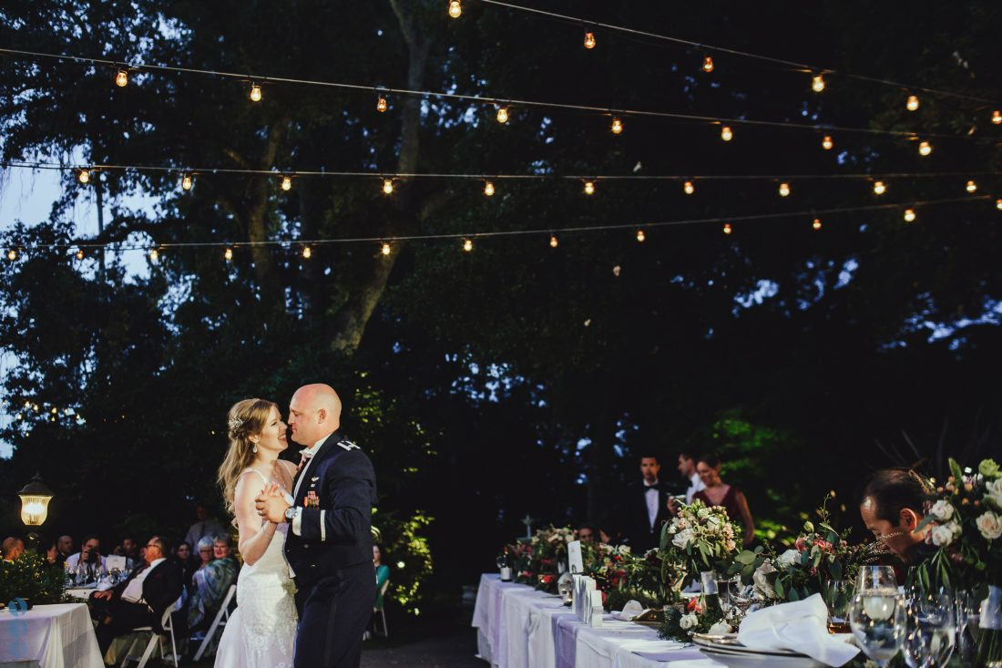 Chris and Anna's First Dance at the Madrona Manor Restaurant. Photography by Aperina Studios.