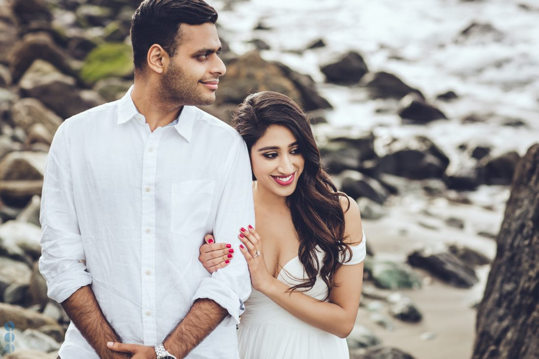 San Francisco engagement photography on the beach with Sahil & Natasha.