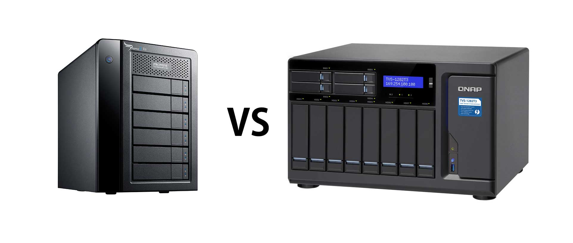 Comparing a Classis Raid Promise Pegasus R6 versus a more modern approach NAS QNAP 1282-T3 for a Media Business