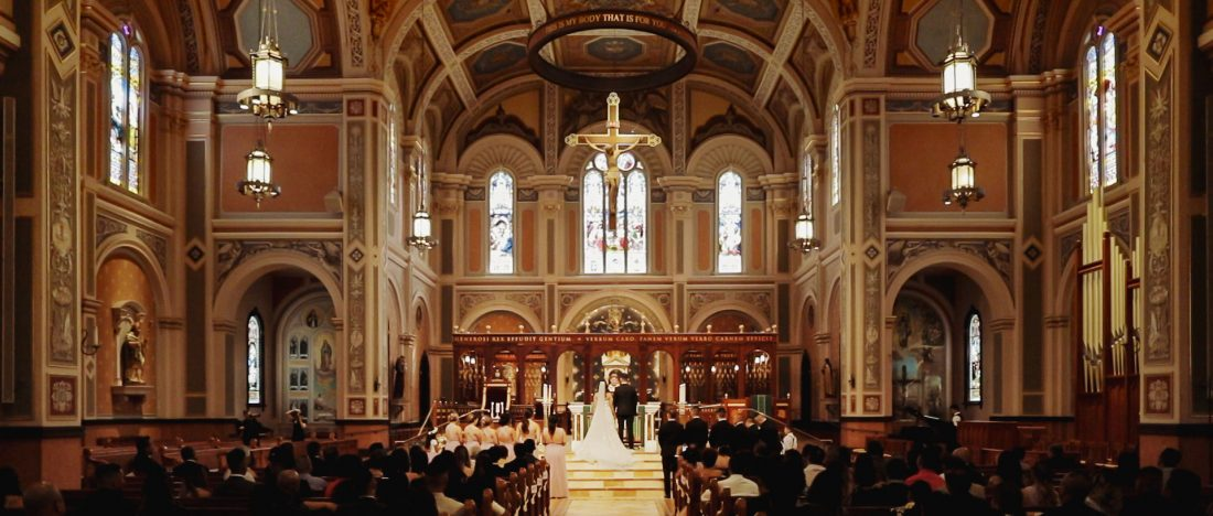 Wedding in Cathedral of the Blessed Sacrament - Sacramento California