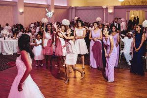 Bouquet Toss at an Eritrean Wedding in San Jose California