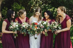 Wedding at Madrona Manor in Healdsburg California - Bridesmaids Photos and wedding bouquets