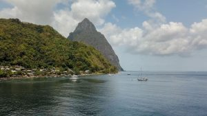 Perfect Destination Wedding in St. Lucia - View of the Piton Mountains