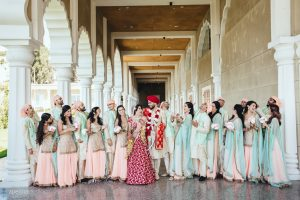 Bridal Party photos in San Jose Gurdwara