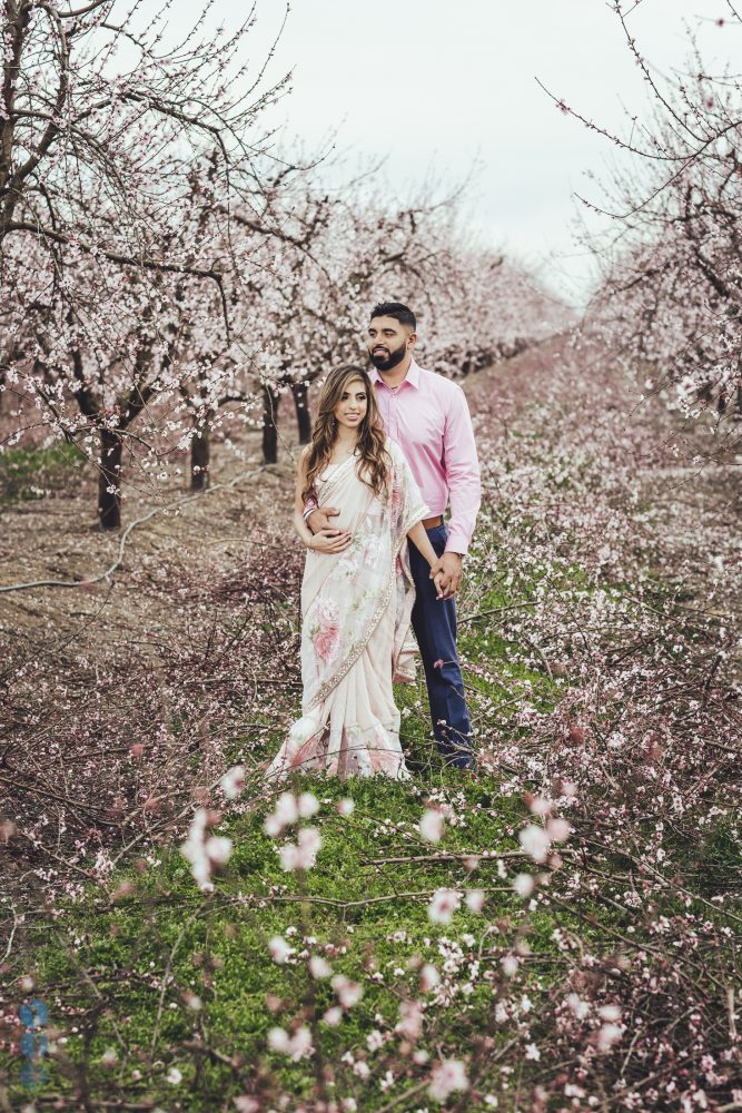 Spring Blossoms Engagement Photoshoot with Harmon and Betha Thiara
