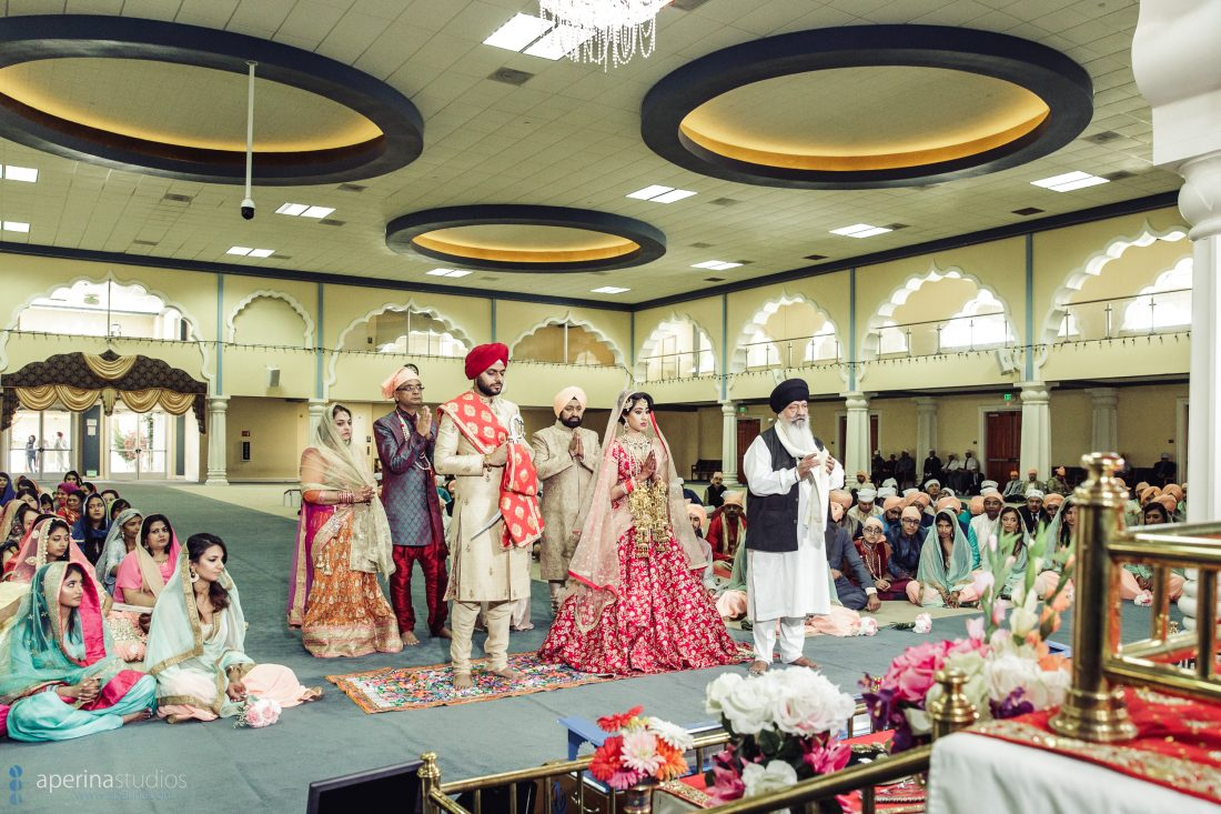 Indian Wedding At The Largest Sikh Temple In America San Jose Gurdwara