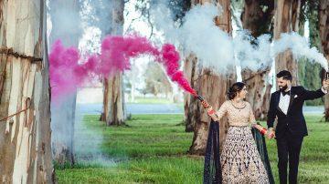 Sacramento Indian Wedding Same Day Edit with Smoke Bombs - Harman and Navroop