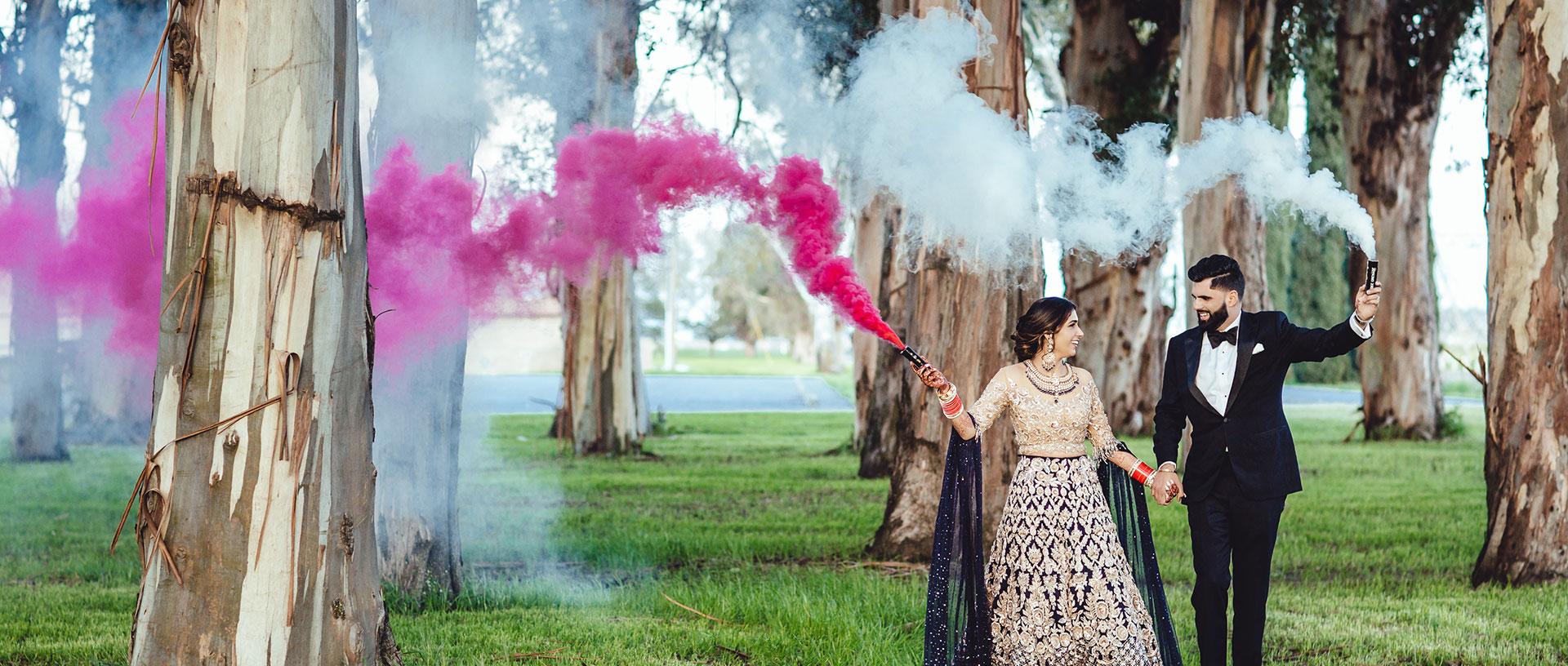 Smoke Bombs at an Indian Wedding in Sacramento, CA - Same Day Edit