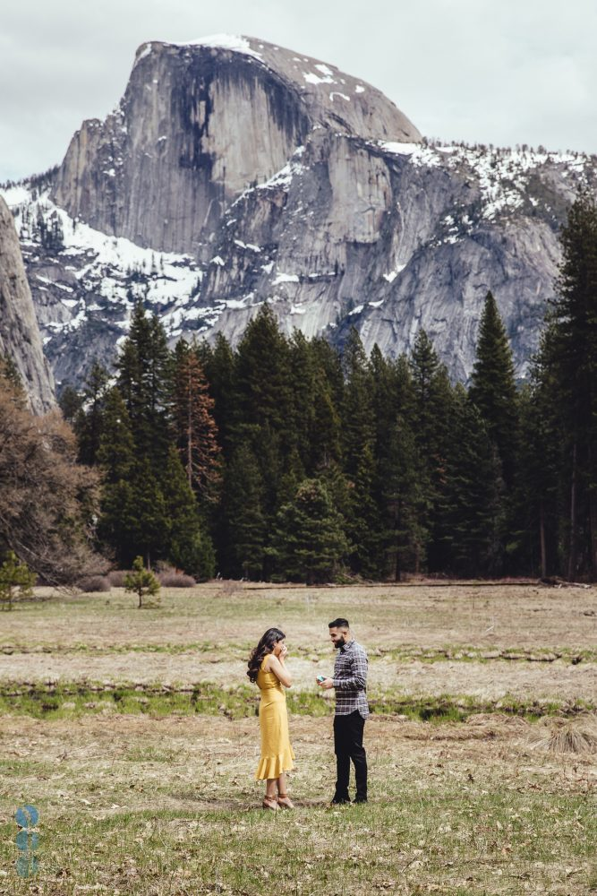 Yosemite Engagement Proposal overlooking Half Dome - Amit and Veena