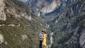 Yosemite Valley Engagement photography - Amit and Veena