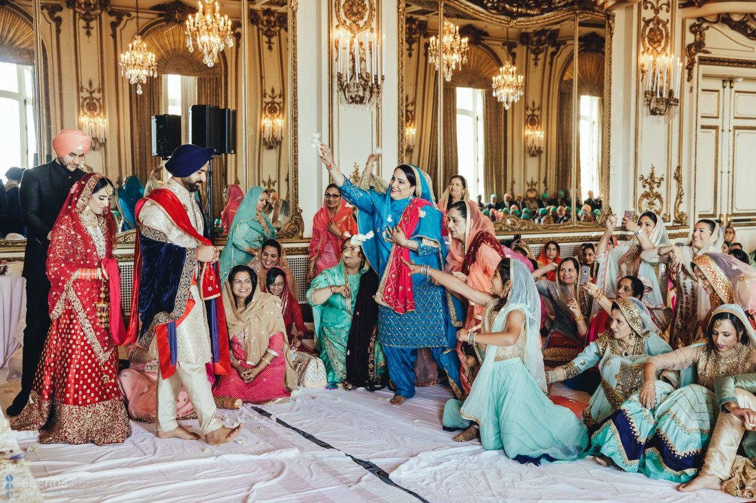 Sikh Indian wedding ceremony in the Gold Room of Fairmont San Francisco