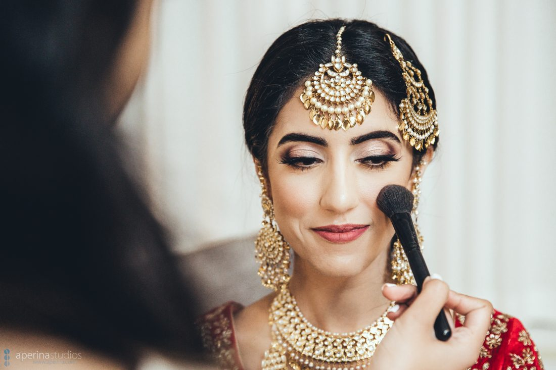Indian bride getting ready at the Fairmont San Francisco