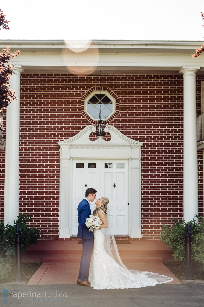 Colonial Style Wedding at Grace Vineyards - bride and groom portrait
