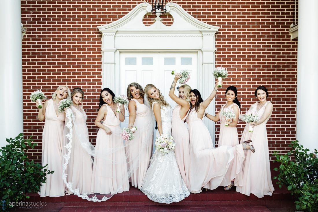Colonial Style Grace Vineyards Winery Wedding Photography - bride and bridesmaids