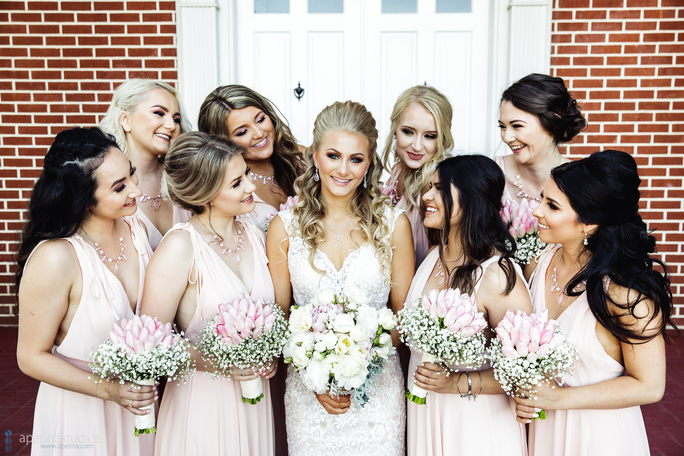 Grace Vineyards Winery Wedding Photography - bride and bridesmaids