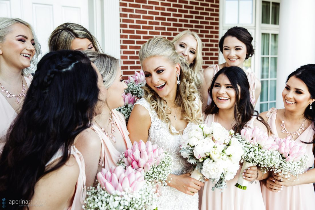 Grace Vineyards Winery Wedding Photos - bride and bridesmaids