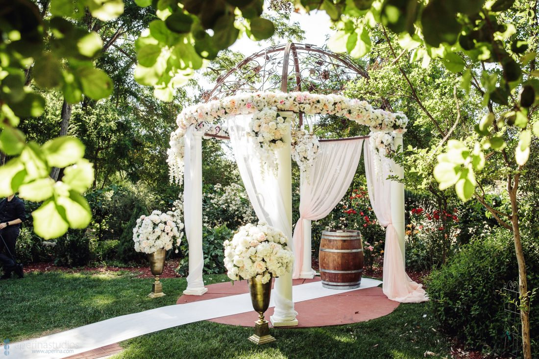 Grace Vineyards Winery Wedding Photos - Wedding Ceremony floral summer decor