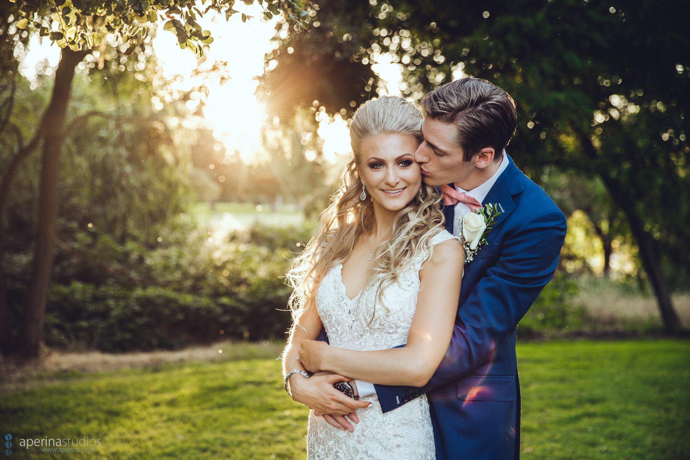 Sunset Bride and Groom Portrait