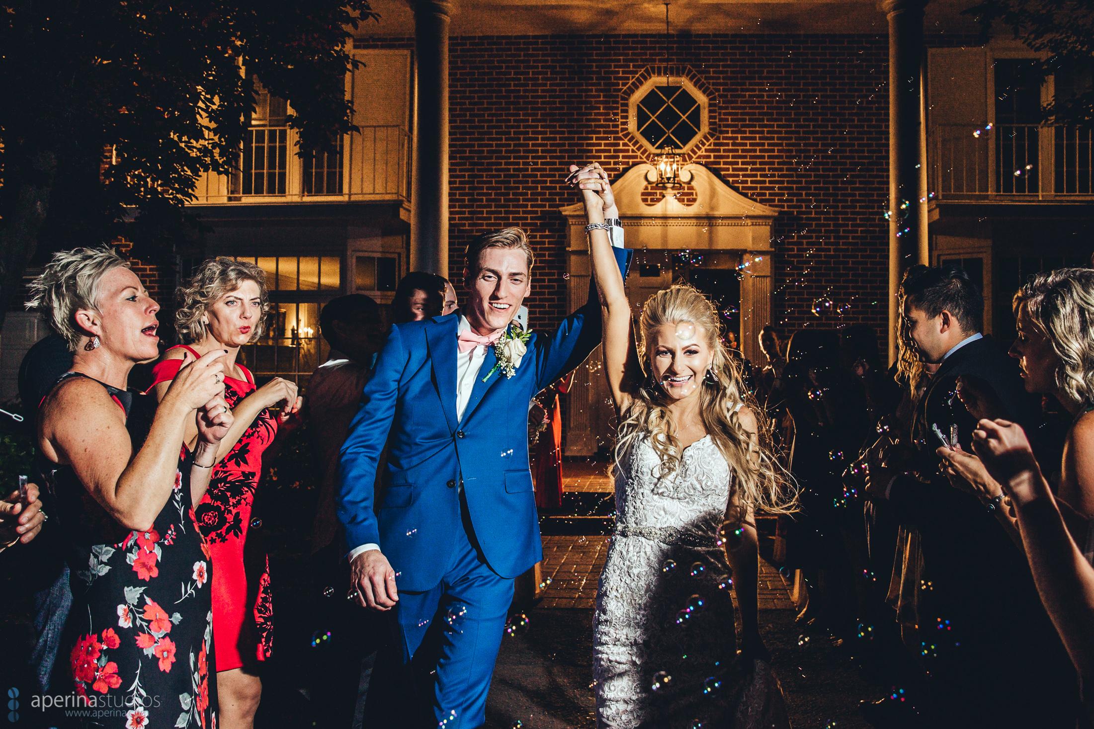 Grace Vineyards Winery Wedding Photos - Reception grand exit