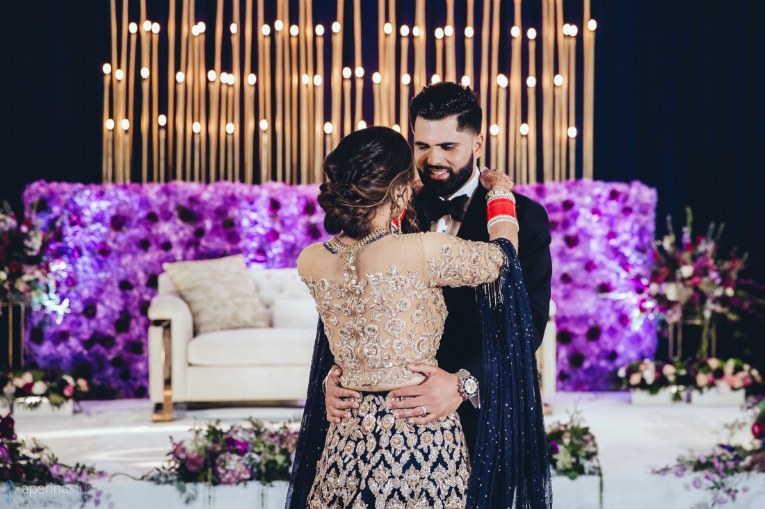 The First Dance - Indian Wedding Reception Photography by Aperina Studios
