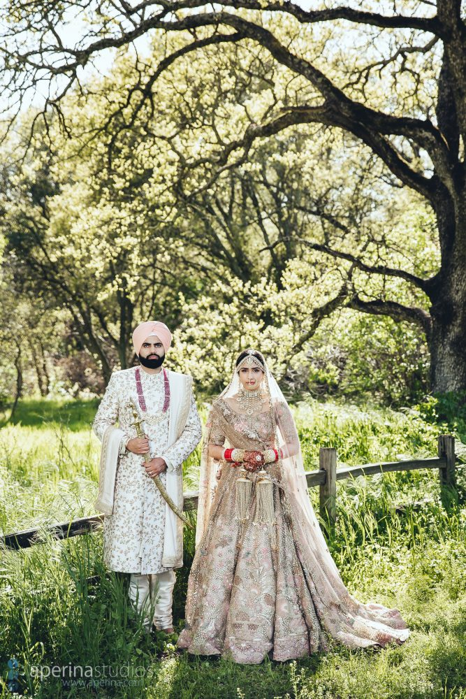 Indian Bride and Groom Portraits on their Wedding Day