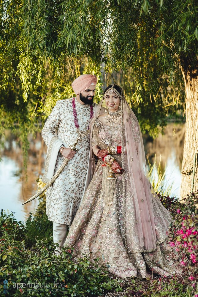 Beautiful Bride and Groom Portraits on their Indian Wedding Day