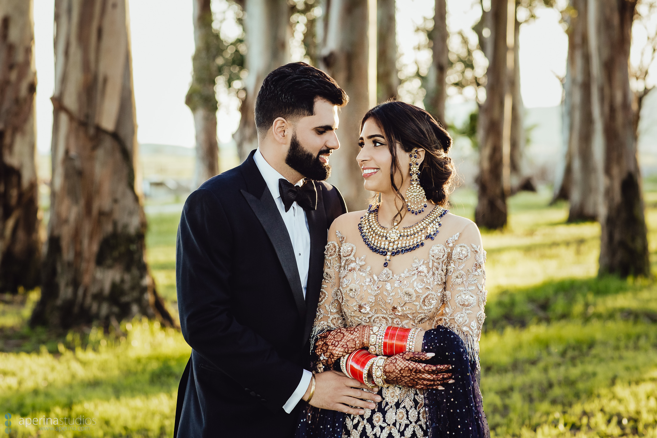 Wedding Reception Portraits - Eucalyptus Trees