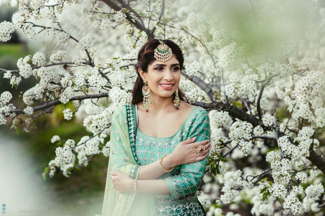 Indian Bride on her Sangeet - Indian bride portrait
