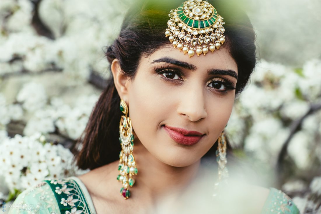 Indian Bride on her Sangeet - Indian bride portrait