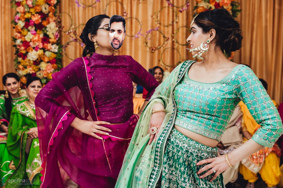 Performances at Bride's Sangeet - Indian Wedding Photography