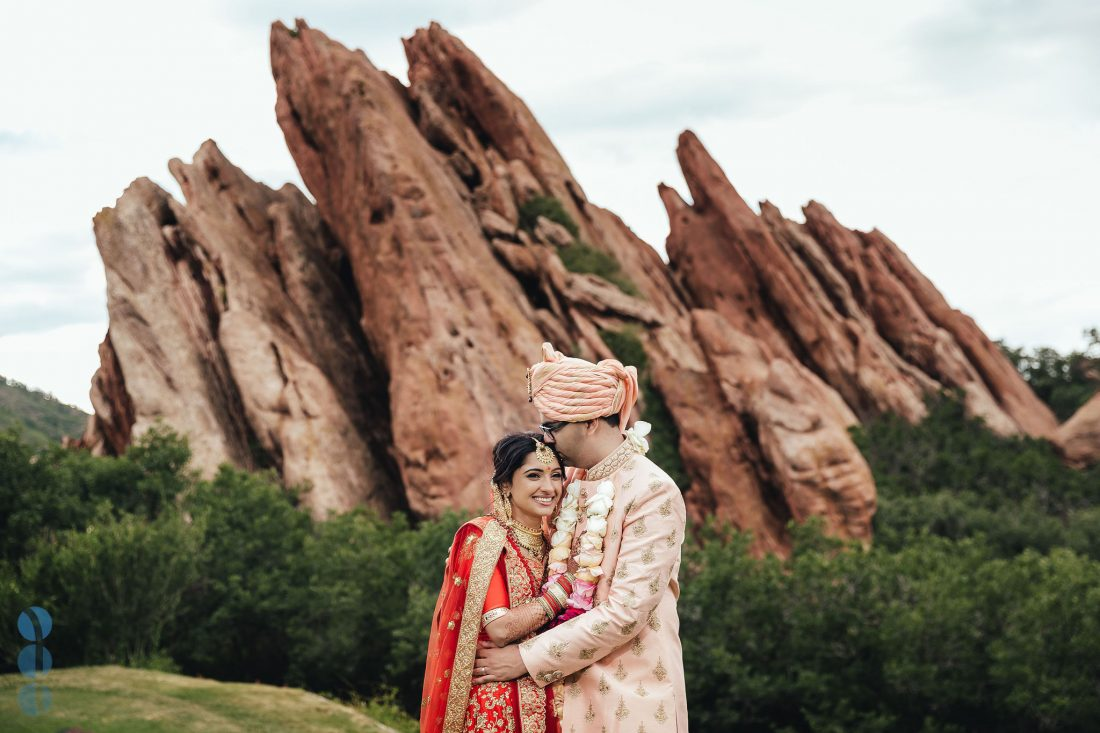 Destination Indian Wedding in Denver, Colorado at Arrowhead Golf Club - Bride and Groom Portraits